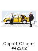Royalty-Free (RF) Taxi Clipart Illustration #42202