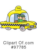 Royalty-Free (RF) Taxi Clipart Illustration #97785