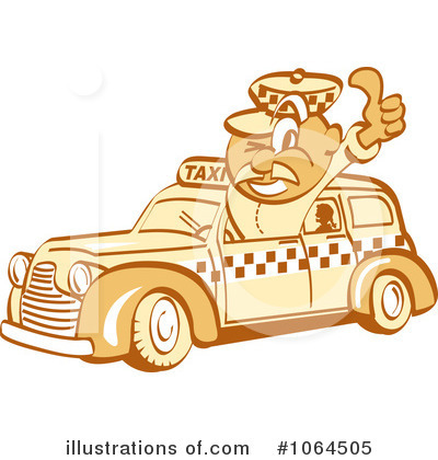 Royalty-Free (RF) Taxi Driver Clipart Illustration by Andy Nortnik - Stock Sample #1064505