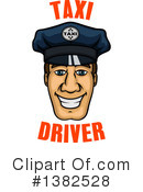 Royalty-Free (RF) Taxi Driver Clipart Illustration #1382528