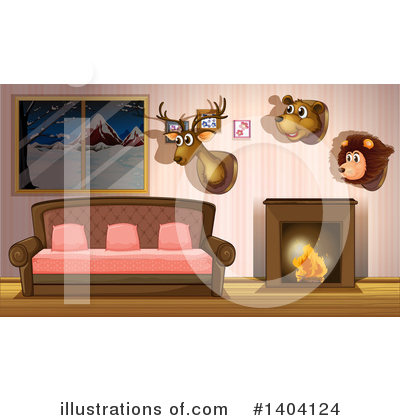 Fireplace Clipart #1404124 by Graphics RF