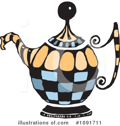 Tea Pot Clipart #1091711 by Steve Klinkel