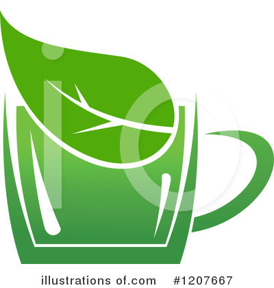 Green Tea Clipart #1207667 by Vector Tradition SM