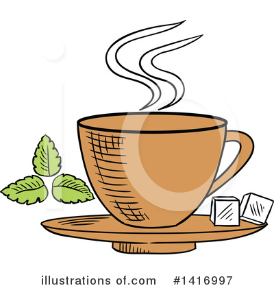 Tea Cup Clipart #1416997 by Vector Tradition SM