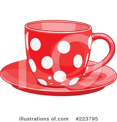 Royalty-Free (RF) Tea Cup Clipart Illustration by Pushkin - Stock Sample #223795