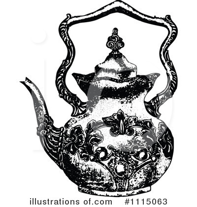 Tea Pot Clipart #1115063 by Prawny Vintage