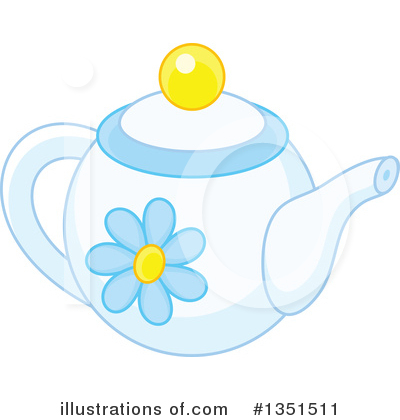 Tea Pot Clipart #1351511 by Alex Bannykh