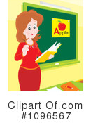 Royalty-Free (RF) teacher Clipart Illustration #1096567