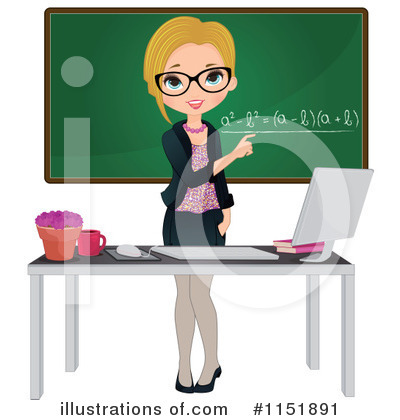 Royalty-Free (RF) Teacher Clipart Illustration #1151891 by Melisende ...