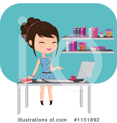 Desktop Computer Clipart #1151892 by Melisende Vector