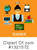 Royalty-Free (RF) Teacher Clipart Illustration #1321572