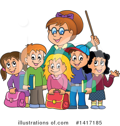 School Children Clipart #1417185 by visekart