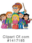 Royalty-Free (RF) Teacher Clipart Illustration #1417185
