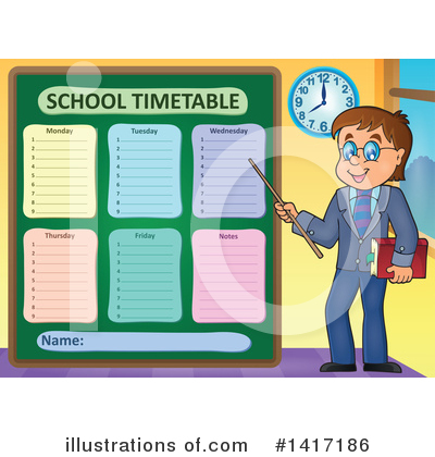 School Timetable Clipart #1417186 by visekart
