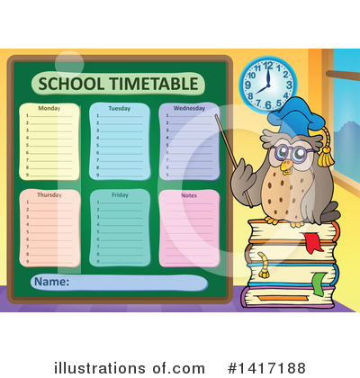 School Timetable Clipart #1417188 by visekart