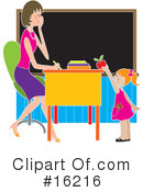 Royalty-Free (RF) Teacher Clipart Illustration #16216