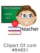 Royalty-Free (RF) Teacher Clipart Illustration #84831