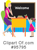 Royalty-Free (RF) Teacher Clipart Illustration #95795