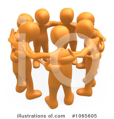 Royalty-Free (RF) Teamwork Clipart Illustration by 3poD - Stock Sample #1065605