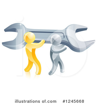 Plumber Clipart #1245668 by AtStockIllustration