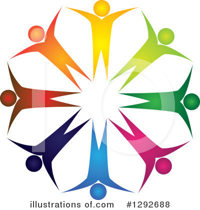 Teamwork Clipart #1292688 by ColorMagic