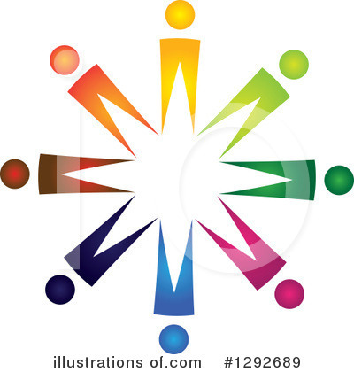 Royalty-Free (RF) Teamwork Clipart Illustration by ColorMagic - Stock Sample #1292689