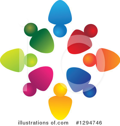 Royalty-Free (RF) Teamwork Clipart Illustration by ColorMagic - Stock Sample #1294746