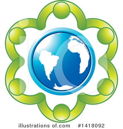 Globe Clipart #1418092 by Lal Perera