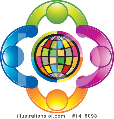 Globe Clipart #1418093 by Lal Perera