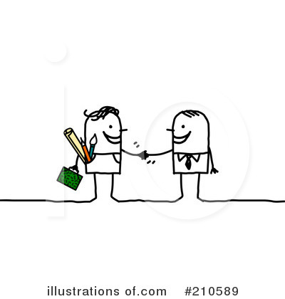 Royalty-Free (RF) Teamwork Clipart Illustration by NL shop - Stock Sample #210589