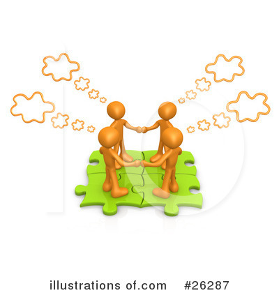 Royalty-Free (RF) Teamwork Clipart Illustration by 3poD - Stock Sample #26287