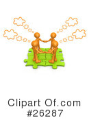 Royalty-Free (RF) Teamwork Clipart Illustration #26287