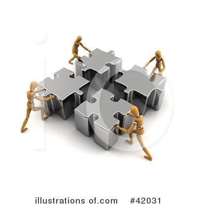 Royalty-Free (RF) Teamwork Clipart Illustration by stockillustrations - Stock Sample #42031