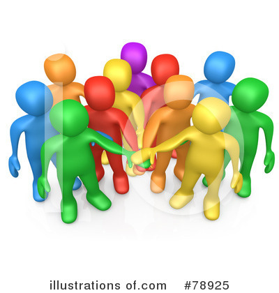 Royalty-Free (RF) Teamwork Clipart Illustration by 3poD - Stock Sample #78925