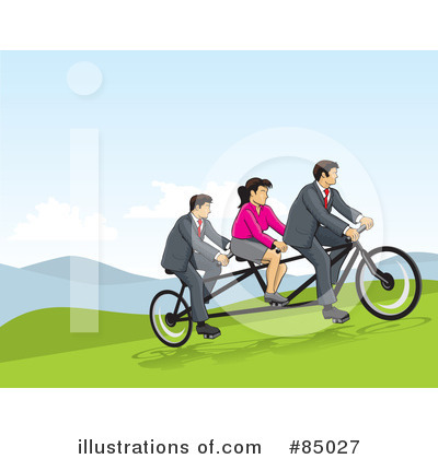 Tandem Bicycle Clipart #85027 by David Rey