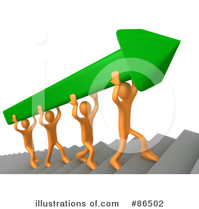 Royalty-Free (RF) Teamwork Clipart Illustration by 3poD - Stock Sample #86502