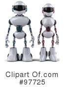 Royalty-Free (RF) Techno Robot Character Clipart Illustration #97725