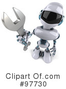 Techno Robot Character Clipart #97730 by Julos