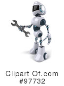 Techno Robot Character Clipart #97732 by Julos