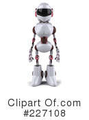 Royalty-Free (RF) Techno Robot Clipart Illustration #227108