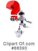 Royalty-Free (RF) Techno Robot Clipart Illustration #88390