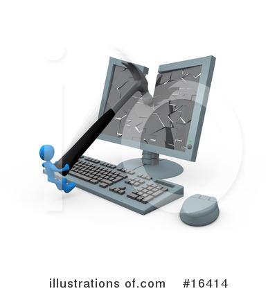 Royalty-Free (RF) Technology Clipart Illustration by 3poD - Stock Sample #16414