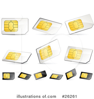 Sim Card Clipart #26261 by beboy