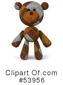 Royalty-Free (RF) teddy bear character Clipart Illustration #53956