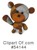 Teddy Bear Character Clipart #54144 by Julos