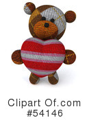 Teddy Bear Character Clipart #54146 by Julos