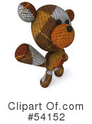 Teddy Bear Character Clipart #54152 by Julos