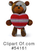 Teddy Bear Character Clipart #54161 by Julos
