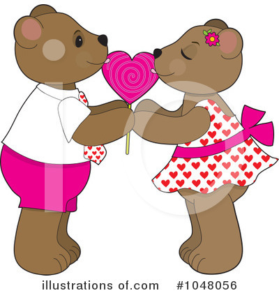 Royalty-Free (RF) Teddy Bear Clipart Illustration by Maria Bell - Stock Sample #1048056