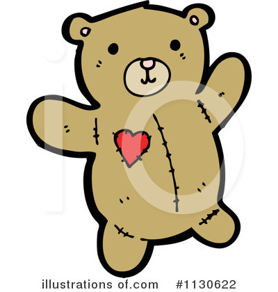 Royalty-Free (RF) Teddy Bear Clipart Illustration by lineartestpilot - Stock Sample #1130622